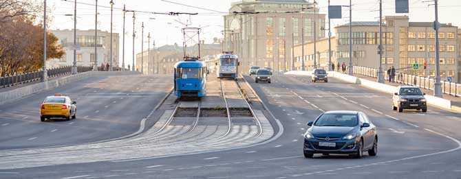 Штраф за остановку на трамвайных путях