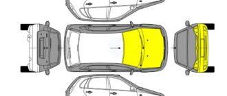 Перечень повреждений автомобиля в дорожно-транспортном происшествии